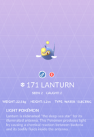 Lanturn Pokedex