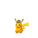 Pikachu female detective shiny