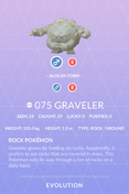 Graveler Pokedex