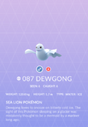 Dewgong Pokedex