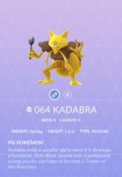Kadabra Pokedex