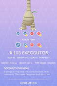 Exeggutor Alolan Pokedex