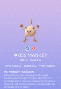 Mankey Pokedex