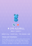 Azurill Pokedex