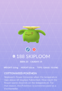 Skiploom Pokedex
