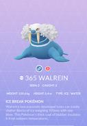 Walrein Pokedex