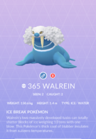 Walrein Pokedex