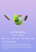Xatu Pokedex