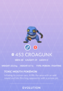 Croagunk Pokedex