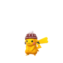 Pikachu female winter shiny