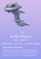 Steelix Pokedex