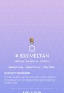 Meltan Pokedex