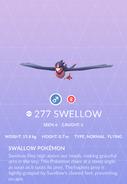 Swellow Pokedex