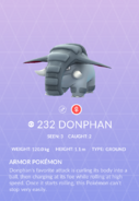 Donphan Pokedex