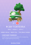 Torterra Pokedex