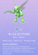Scyther Pokedex