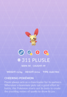 Plusle Pokedex