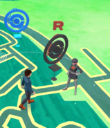 Team GO Rocket Grunt at PokéStop