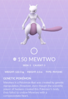 Mewtwo Pokedex