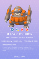 Rhyperior Pokedex
