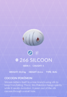 Silcoon Pokedex