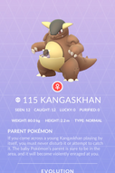 Kangaskhan Pokedex