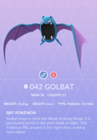 Golbat Pokedex