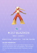 Blaziken Pokedex