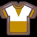 Shirt F Gold White