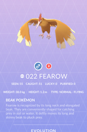 Fearow Pokedex