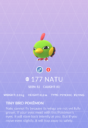 Natu Pokedex