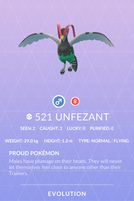 Unfezant Pokedex