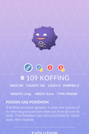 Koffing Pokedex