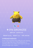 Drowzee Pokedex