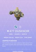 Dusknoir Pokedex
