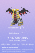 Giratina Pokedex
