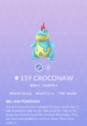 Croconaw Pokedex