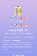 Persian Pokedex