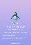 Prinplup Pokedex