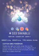 Swablu Pokedex