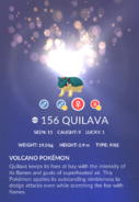 Quilava Pokedex