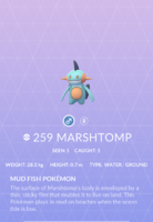 Marshtomp Pokedex