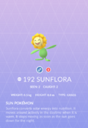 Sunflora Pokedex