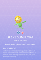 Sunflora Pokedex