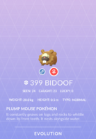 Bidoof Pokedex