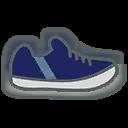 Shoes M Blue Stripe