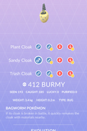 Burmy Sandy Pokedex