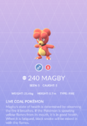 Magby Pokedex