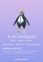 Empoleon Pokedex