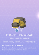 Hippowdon Pokedex